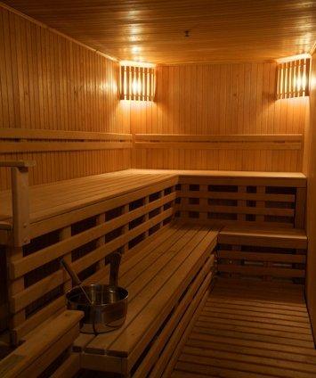 Sauna at Neringa Hotel
